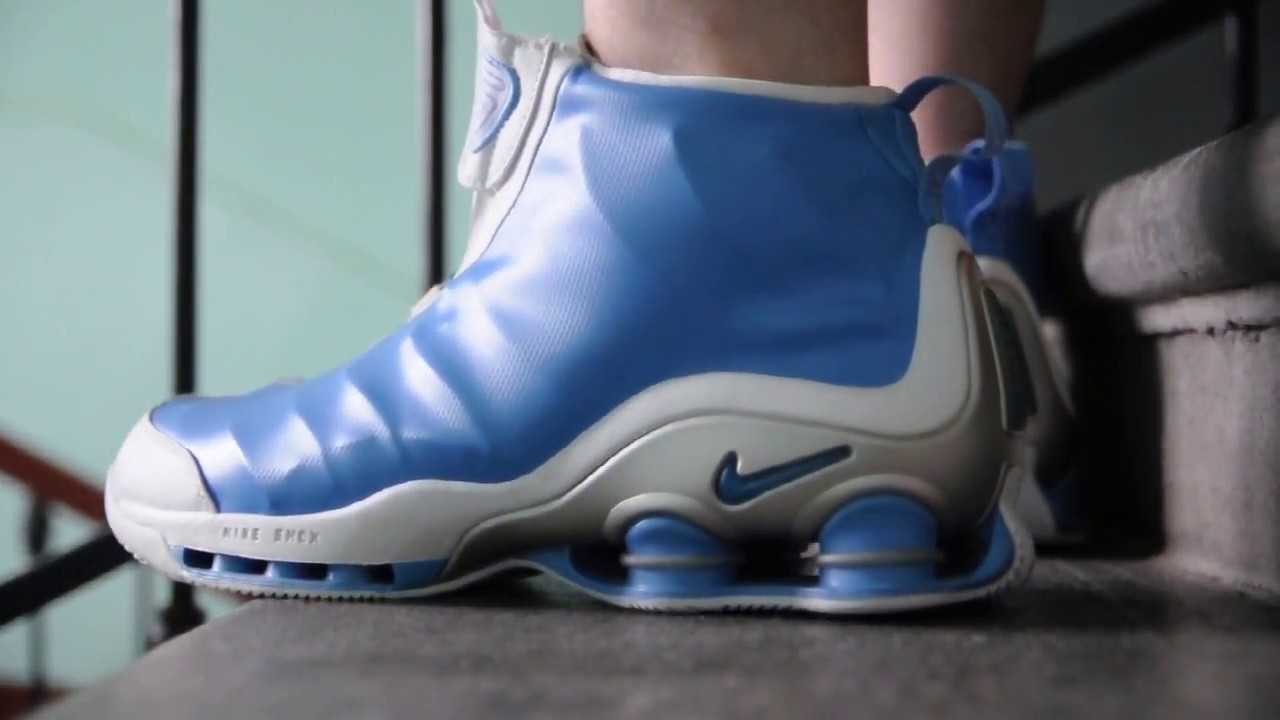 49092e2753c8 2002 Nike Shox VC   UNC   on feet womft - YouTube