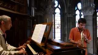 BACH.J.S Sonate en sol mineur BWV 1020 allegro 3e Saxophone David DECOUCHANT Orgue Pierre ASTOR