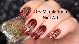 Dry Marble Holo Nail Art