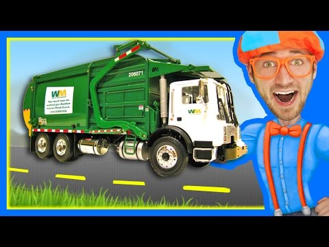 Thumbnail: Garbage Trucks for Children with Blippi | Learn About Recycling