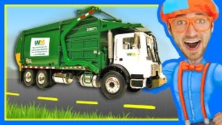 Garbage Trucks for Children with Blippi | Learn About Recycling