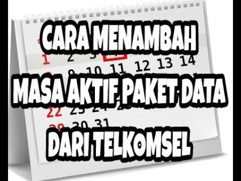 Cara Menambah Masa Aktif Data Flash Dari Telkomsel 100 Work Youtube