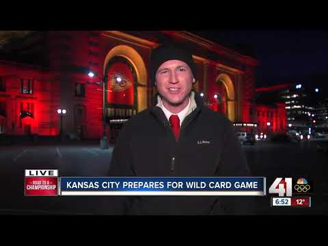 KC goes red ahead of Chiefs playoff game versus Titans