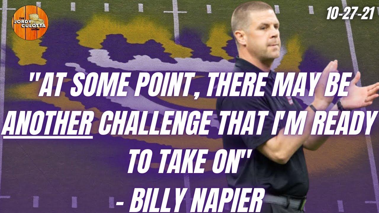 Download LSU Football | ULL Head Coach Billy Napier Comments On The LSU Football Head Coaching Job
