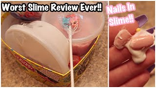 WORST EVER Slime Review Package!! -HAIR, NAILS, WET STUFF IN MY SLIME 🤢🤢!-