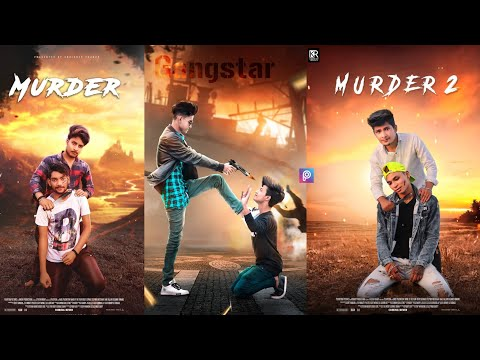MURDER 2 Poster Photo Editing Tutorial In Picsart | Action Movie Poster Photo Editing - KR Editing