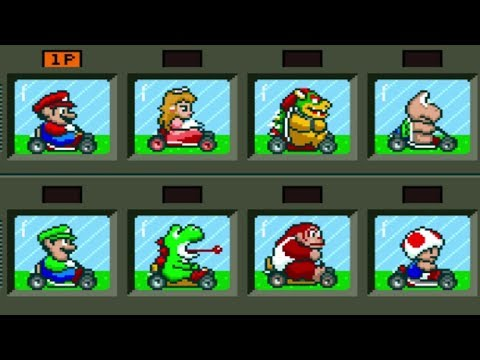 Super Mario Kart - All Characters