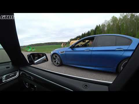 575 BMW M5 F10 vs Alpha 9 Mercedes E63 S AMG 4-Matic x 3 races [4k Wideangle]
