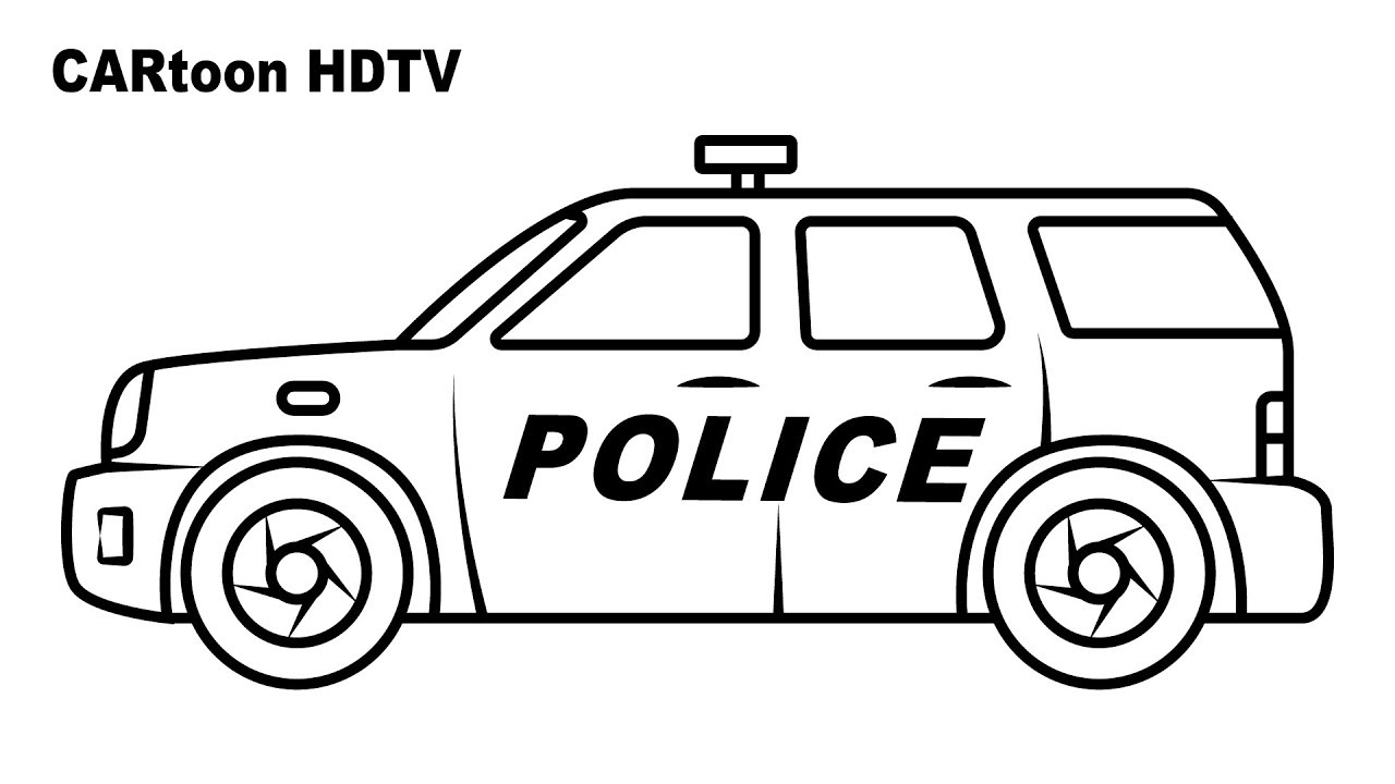 - SUV Police Car Coloring Pages, Video Colors Vehicles, Coloring
