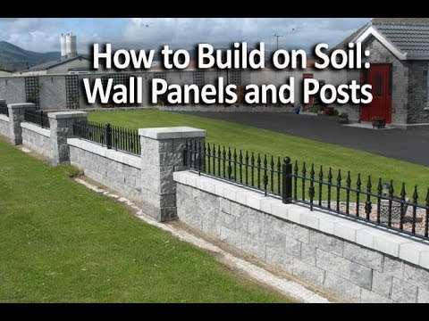 How To Build Seating Walls And Posts On Soil Youtube