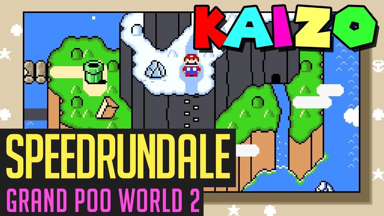 Download Grand Poo World 2-Speedrun (schwerstes Kaizo-Mario) in 1:59:07 von Dennsen86   Speedrundale