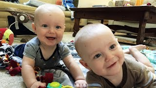 Twin Babies Laughing Hysterically - Funny Baby Videos (2018)