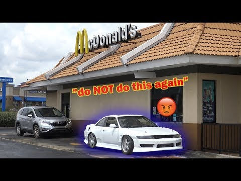 McDonald's Drive Thru In My RACECAR