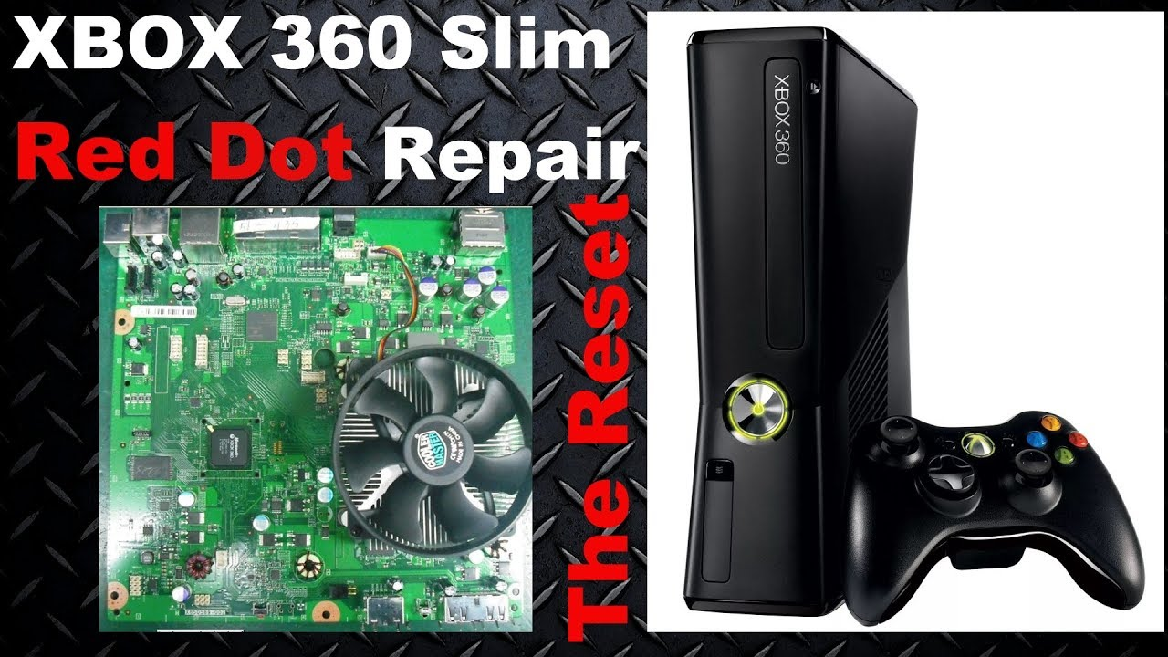 How to fix Xbox 360 Slim RROD / Red Dot of Death Reset Solution👍