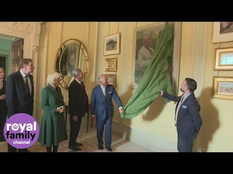 Prince Charles unveils portrait of himself at Hillsborough Castle