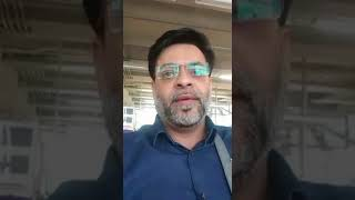 Dr Aamir Liaquat giving message from Thailand Airport while en route to Myanmar.