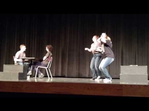 """Jackelyn and her acting classmates at """"Just Laugh Improv Show"""" 2016"""
