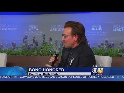 Bono Gets New George W. Bush Medal For Leadership Mp3