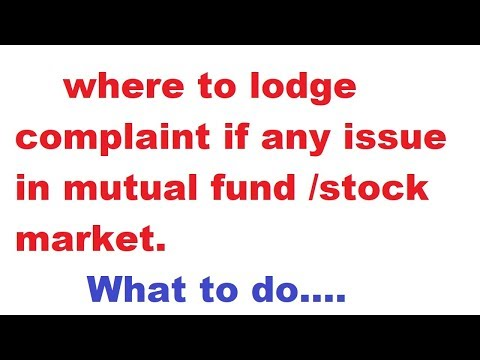 complaint redressal for mutual fund/stock broker | mutual fund grievance redressal