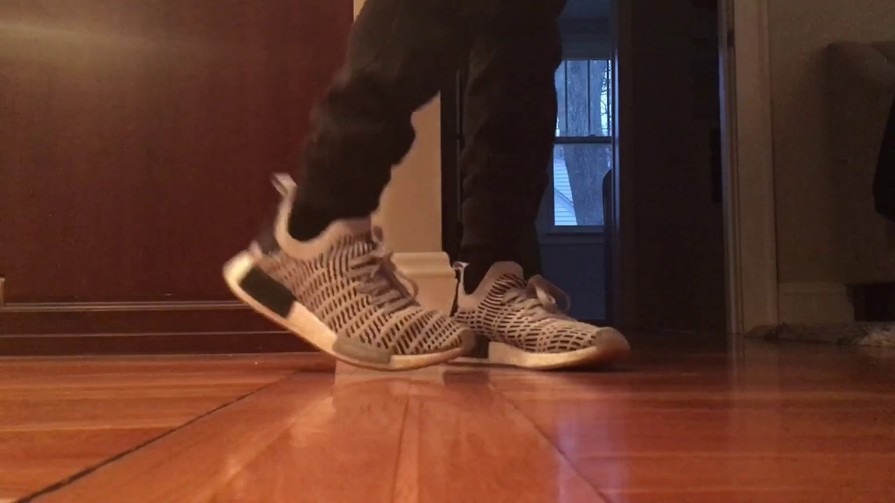 cdbd7f4a9ba33 adidas NMD r1 STLT Primeknit On Foot!! - YouTube