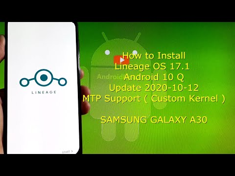 Lineage OS 17.1 for Samsung Galaxy A30 Android 10 Q - Update 2020-10-12