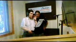 Adrián Barba y Ricardo Silva grabando Mi Corazón Encantado (Parte 2)