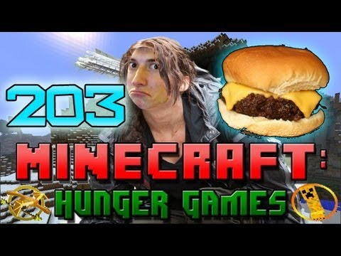 Minecraft: Hunger Games w/Mitch! Game 203 - #BurgerCheese