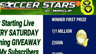 GIVEAWAY(part 39) FREE COINS  SOCCER STARS SUPER HEROES YOU WANT FREE COINS SUBSCRIBE TO MY CHANNEL✌