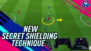 FIFA 19 SECRET PROTECT THE BALL TECHNIQUE - HOW TO SHIELD THE BALL & PUSH DEFENDERS BACK