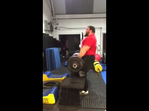 Eddie hall 207kg/456lbs strict log press