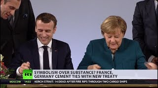 France and Germany pledge to defend each other in new treaty