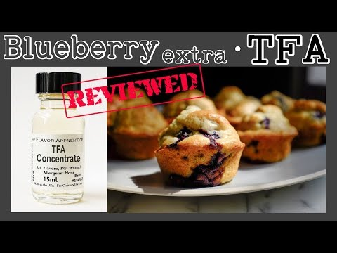 Blueberry Extra TFA - Review & Recipe (Berry Jam Muffins)