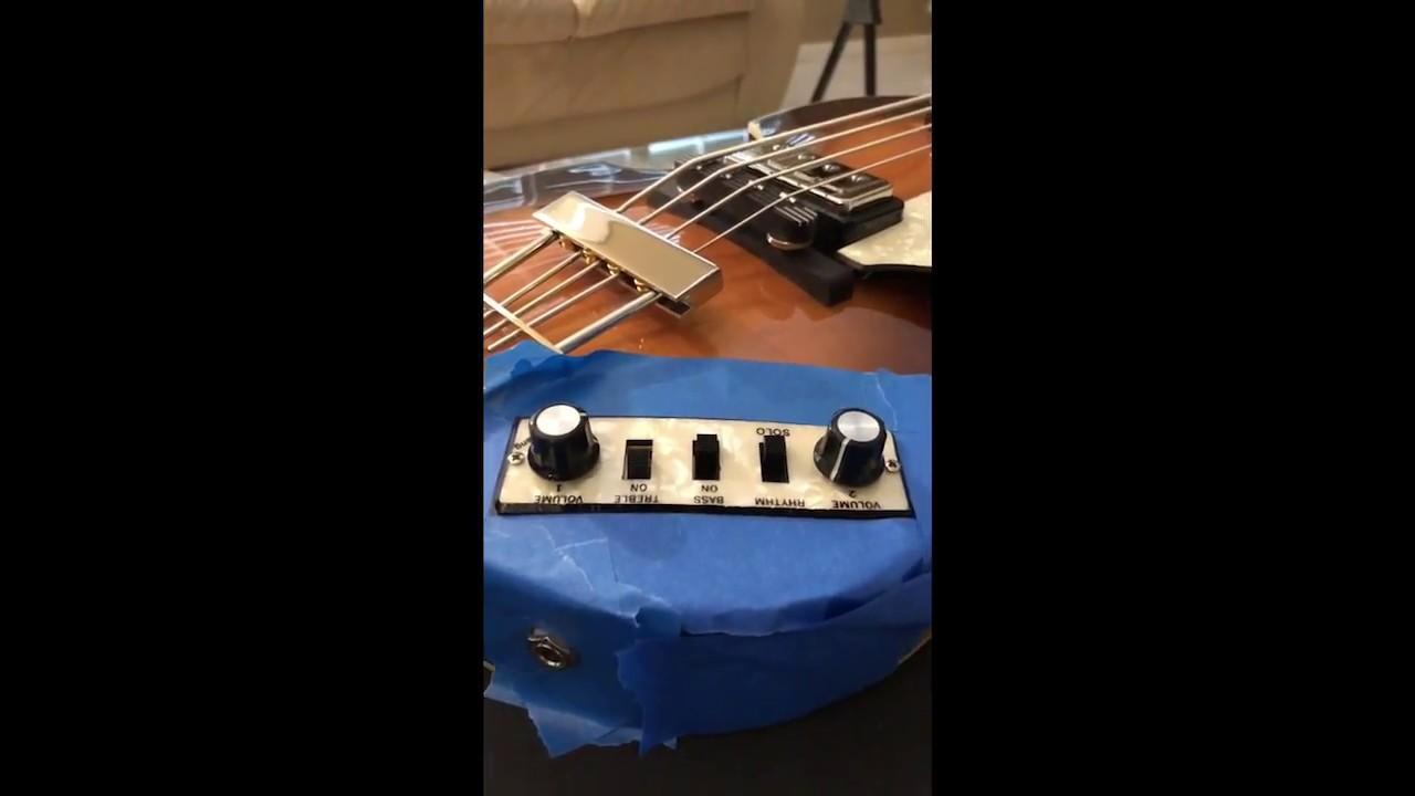 medium resolution of hofner beatle bass install german electronics in a contemporary bass