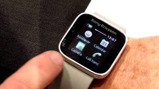 Sony Bluetooth SmartWatch demo from CES 2012