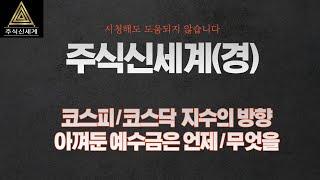 20.09.[주식신세계] 코스피/닥 지수의 방향과 남겨…
