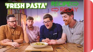 FRESH PASTA Recipe Relay Challenge | Pass It On S2 E3