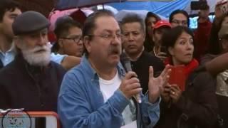 ¿Quién ordenó disparar contra maestros desarmados?: TaiboII en plantón de la CNTE 20/Jun/16