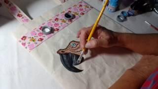 Ecobag arara parte 3 – Pintura em tecido com Rosana Duran