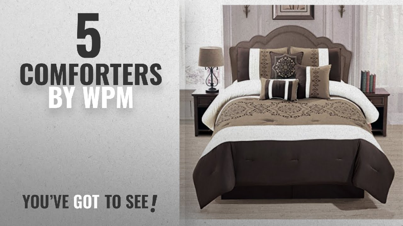 8fe26ed122dfc Top 10 Wpm Comforters  2018   WPM 7 Pieces Complete Bedding Ensemble Brown  taupe Victorian print
