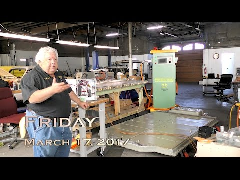 EVTV - March 17, 2017.  Hacking The Ultimate Tesla Home Solar Battery