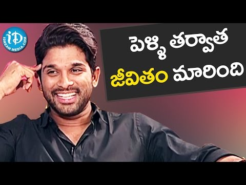 Marriage Brought Many Changes - Allu Arjun || Sarrainodu Movie || Special Interview