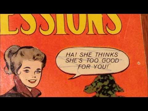COMIC MAN PRODUCTIONS: TEEN CONFESSIONS CHARLTON ROMANCE COMIC BOOK ART 1961 TO 1976