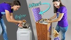DIY Raised Dog Food Storage