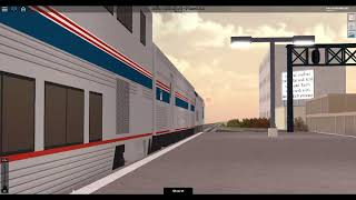 ROBLOX Rails Unlimited Amtrak Sunset Limited Train Departing out of Mobile Station