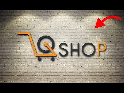 Logo Design Photoshop Tutorial - Professional Shopping Logo.