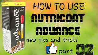 How to use nutricoat advance for dogs /in hindi //nutricoat advance ko kaise use kare///part 2