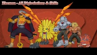 Digimon Masters Online: Elecmon - All Digivolutions & Skills