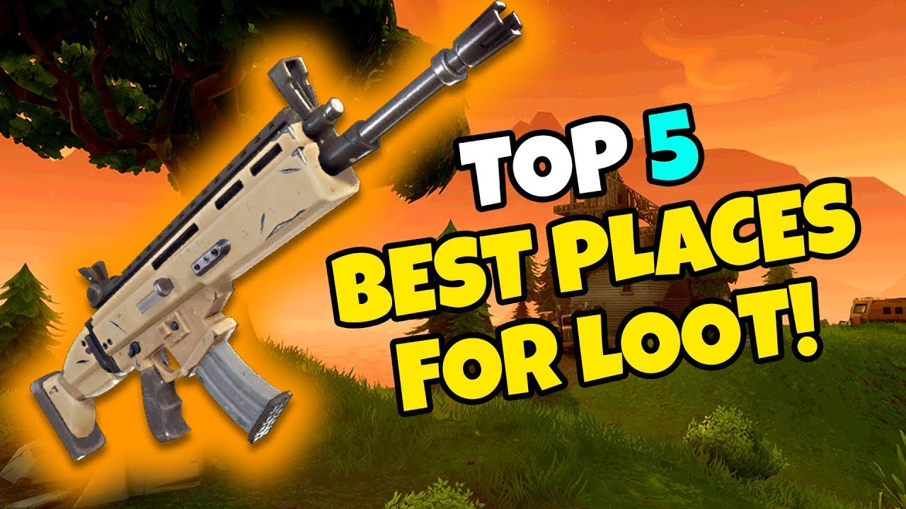 Top Places To Find The Best Loot: TOP 5 BEST Places To Find Loot For Beginners In FORTNITE