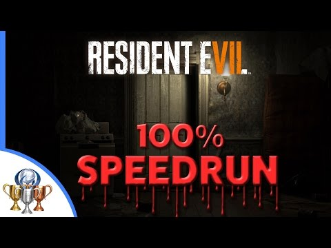 Resident Evil 7 100% NG+ Speedrun  [World Record Attempt] Collectibles Files, Mr. Everywhere & Coins