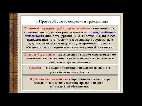 "Видеоурок на тему ""Права и свободы человека и гражданина"""